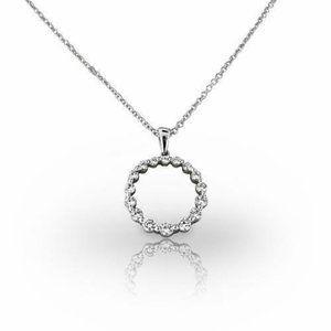 F Gorgeous 2.00 Carats Diamonds Necklace Pendant W